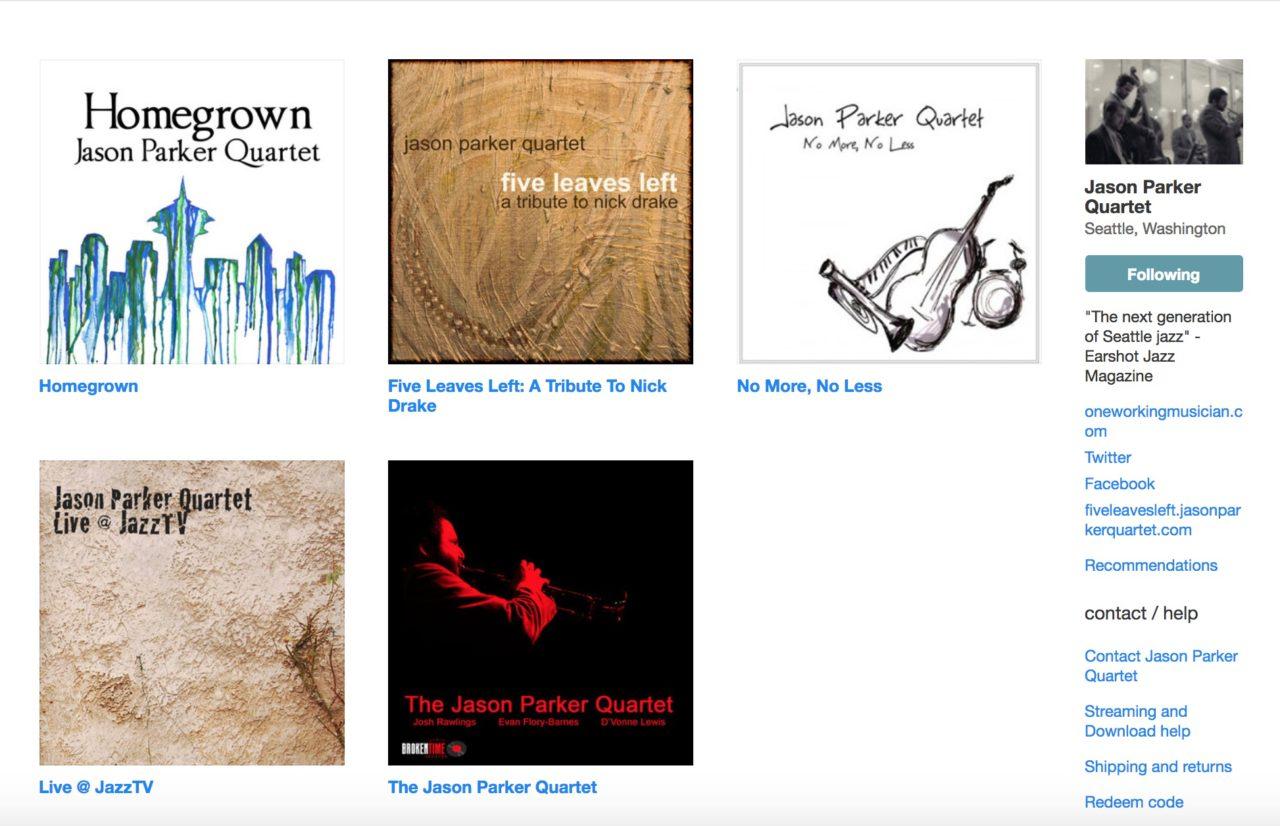 Jason Parker Quartet Music